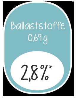 YOLOCO Frozen Yogurt Nährwertangaben Ballaststoffe